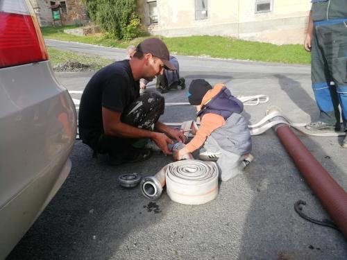 Trénink malých dobrovolných hasičů 22.09.2019