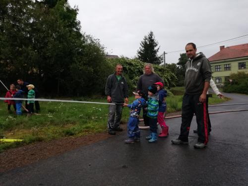 Trénink malých dobrovolných hasičů 07.09.2019